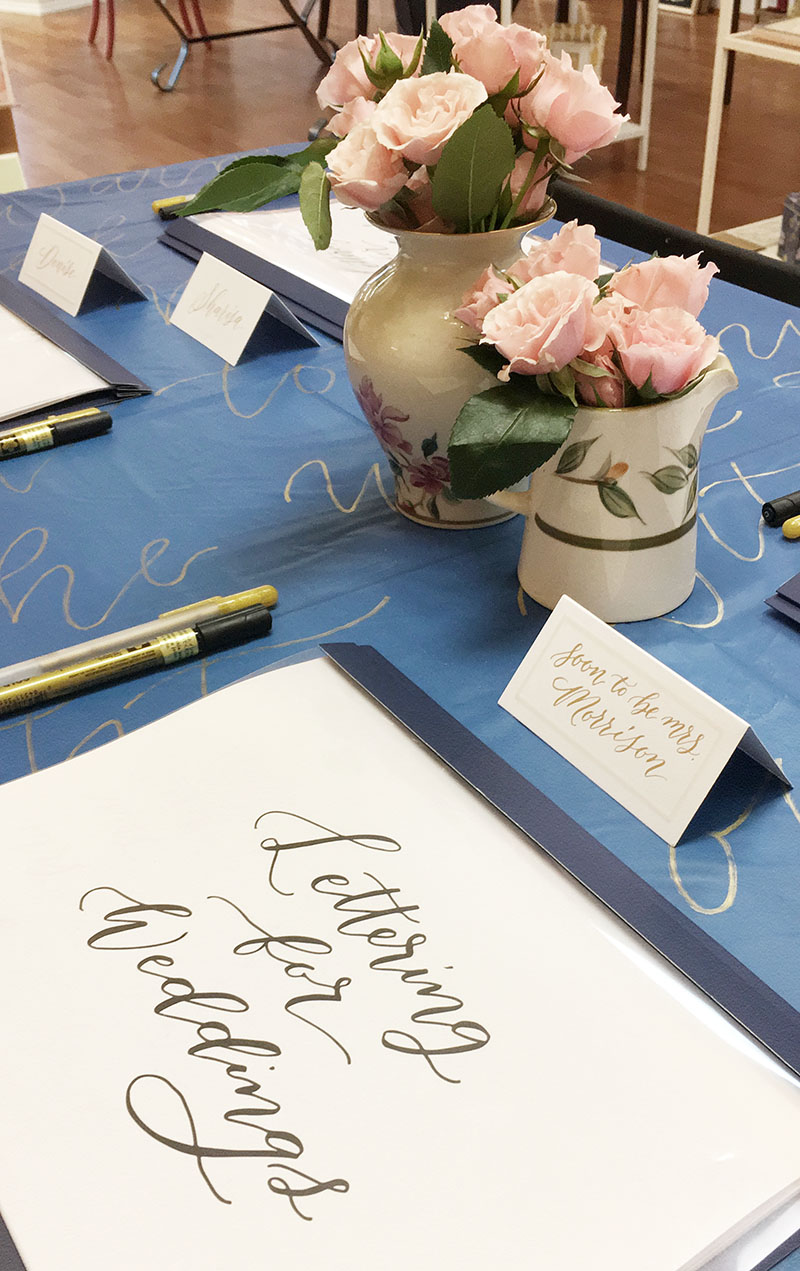 wedding calligraphy, gold place cards, gold calligraphy, columbia, sc, lexington, sc, south carolina_feb 01.JPG