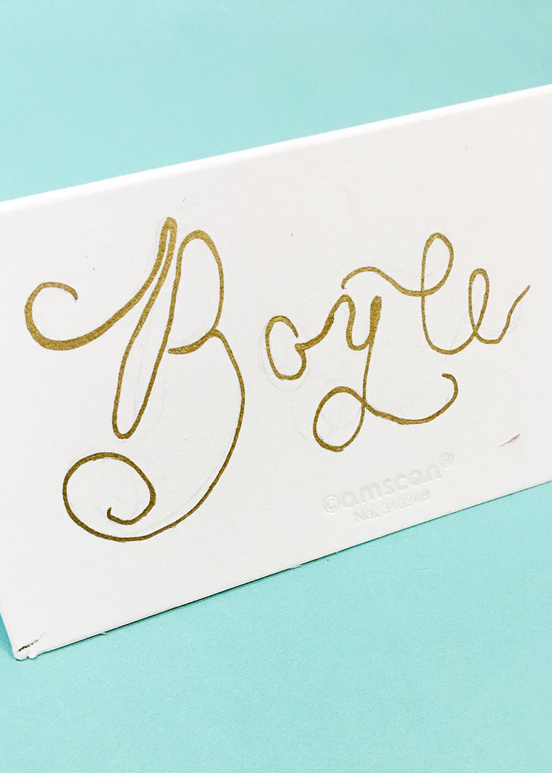 wedding calligraphy, gold place cards, gold calligraphy, columbia, sc, lexington, sc, south carolina_feb 09.JPG