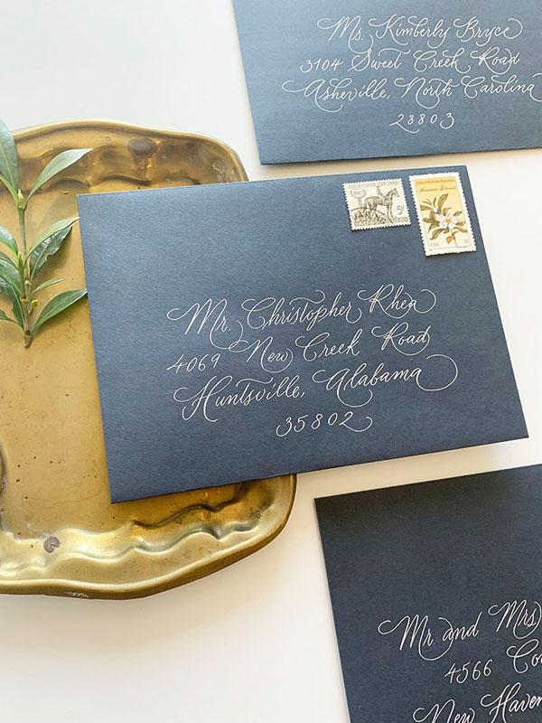 envelope calligraphy, address wedding invitations, calligraphy for wedding invitations, columbia, sc, greenville, sc, charleston, sc, lexington, sc 1.jpg