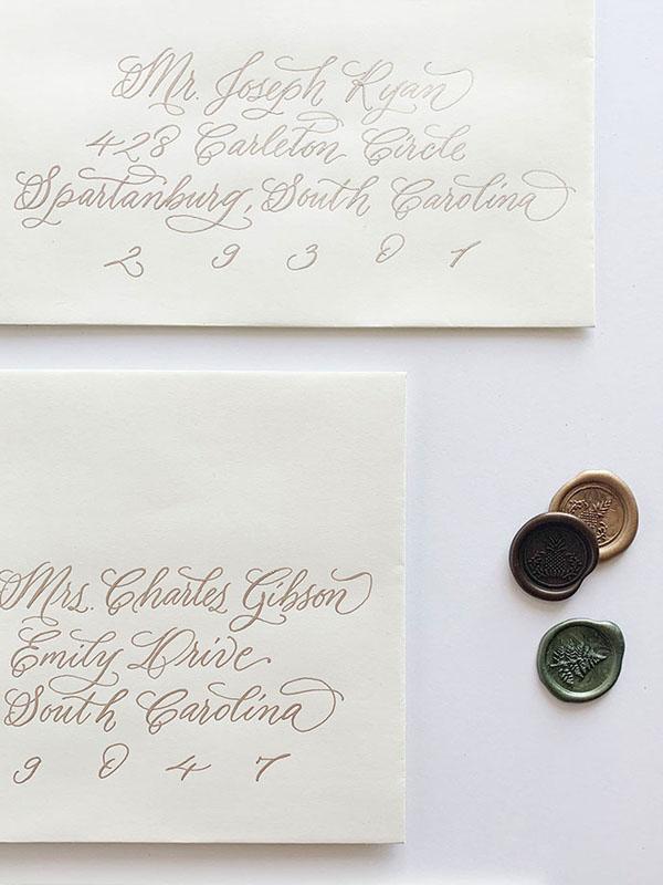 envelope calligraphy, address wedding invitations, calligraphy for wedding invitations, columbia, sc, greenville, sc, charleston, sc, lexington, sc 3.jpg