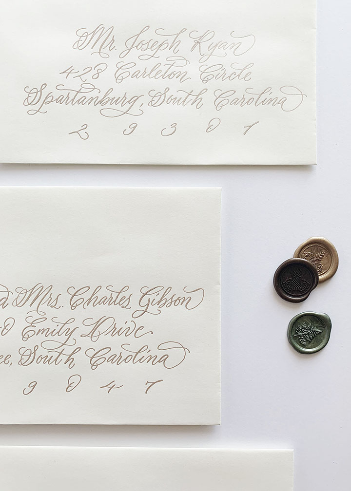 Hunting Island Calligraphy Style