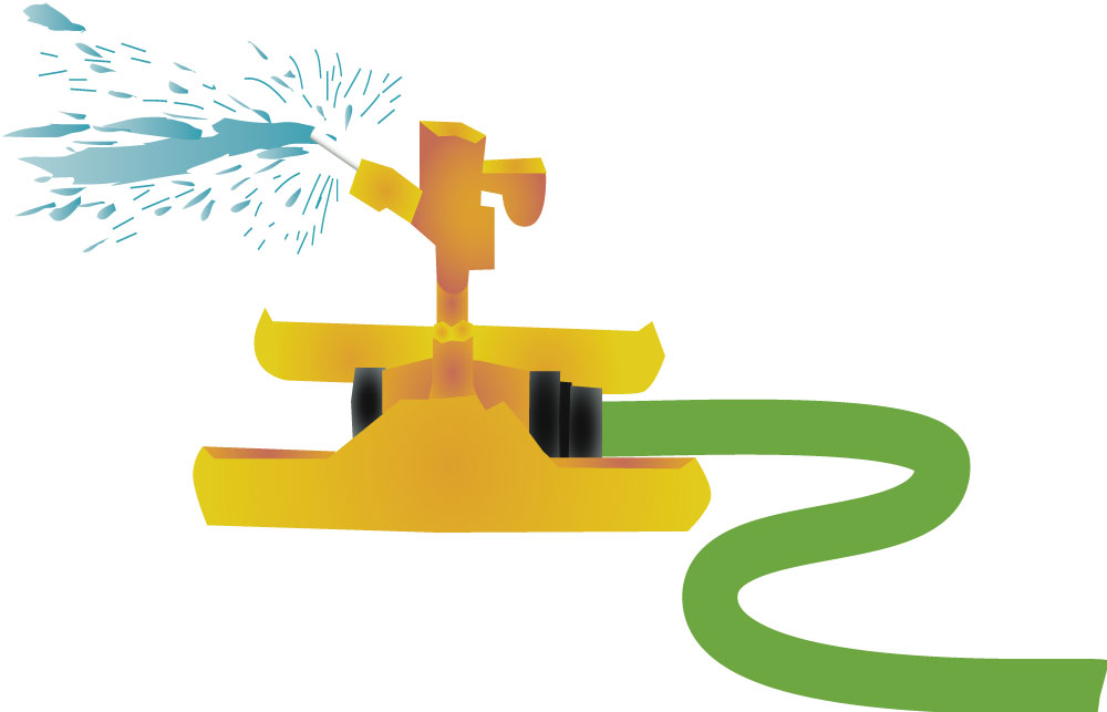I love sprinklers. I used to get a new one for every birthday when I was a little girl. This is an illustration I did for a water brochure for the City of Portland, some years back.