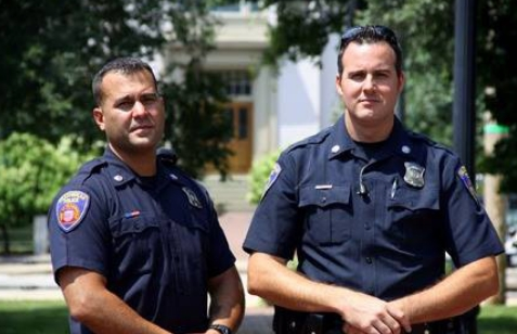 Downtown Protectors   Officers Dinis Avila and Stephen Buma.