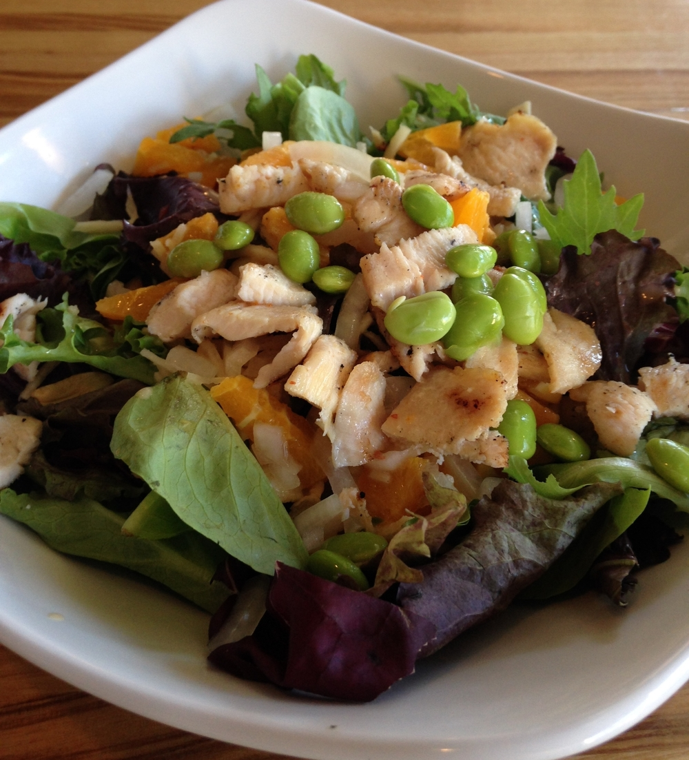 The Asian Chicken Salad at Pho Dakao is healthy and full of amazing flavors.