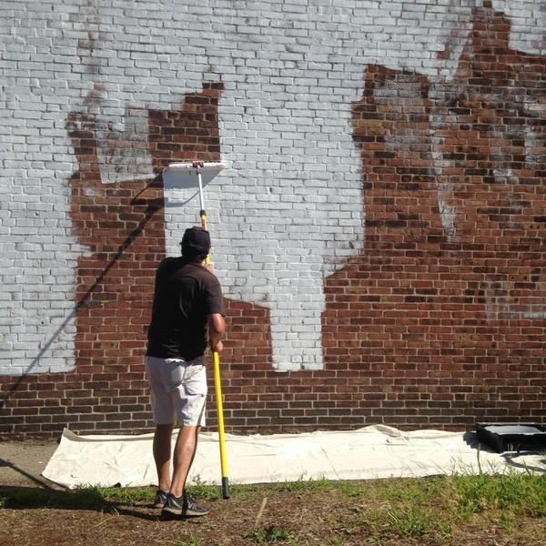 In August 2015, Sorin Bica begins the long- awaited Front Door Framingham Gateway Mural Project at the Crossroads of 126 and 135.