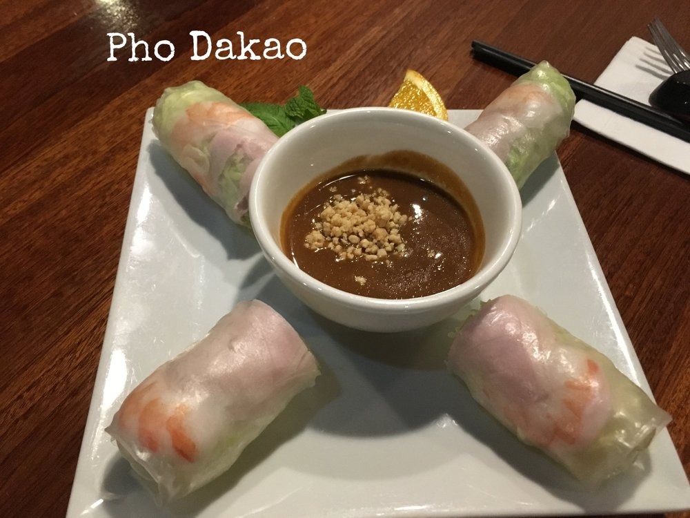 Fine dining, delicious memories - Pho Dakao - 101 Concord Street- Spring rolls- Crab rangoonRead about Pho Dakao's feature by Phantom Gourmet!