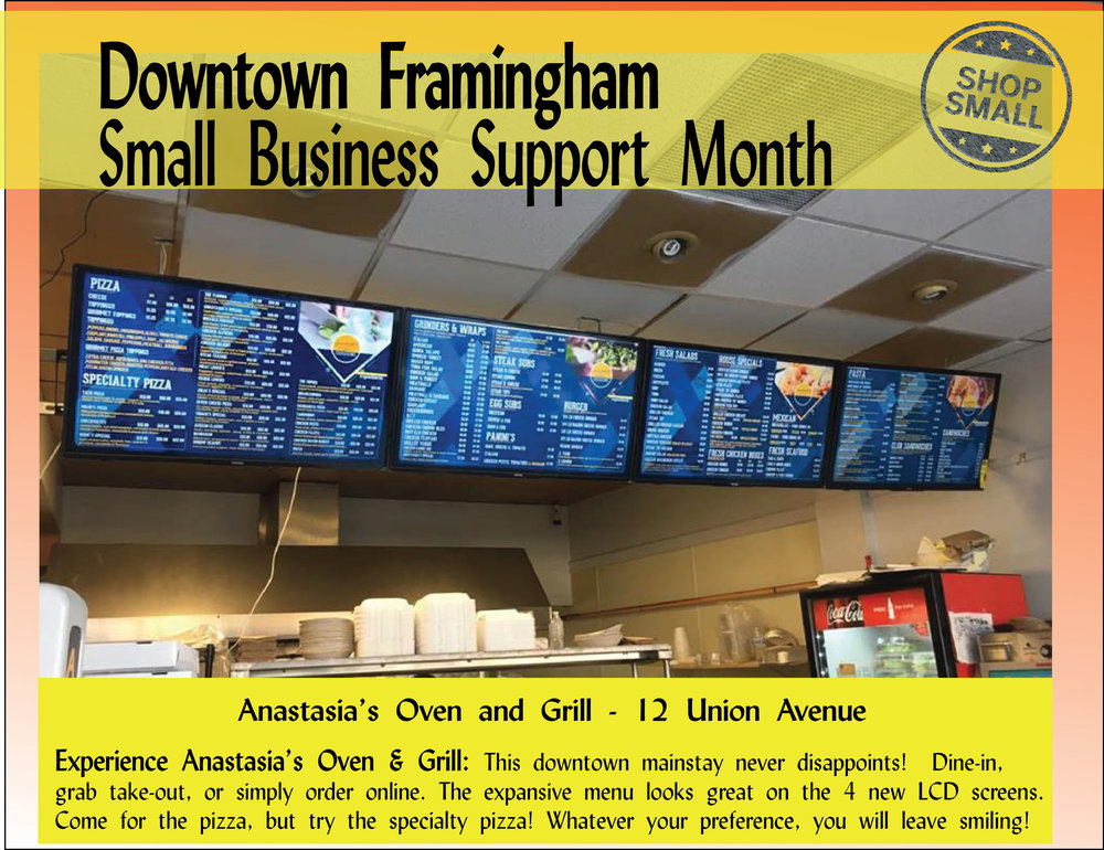 """It's Day 8 of Small Business Support Month!  Reason #8 to shop small: """"Build Community! The casual encounters you enjoy at neighborhood–scale businesses and the public spaces around them builds relationships and community cohesiveness.""""  Today's feature is  Anastasia's Oven & Grill ! Stop by to try their affordable, vast menu! You won't be disappointed!  Content Source: https://www.amiba.net/resources/localhero/"""