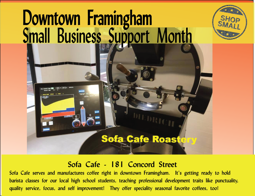 It's Day 14 of small business support month! Reason 14 to shop small : they really give back to their community! Small businesses donate more than twice as much per sales dollar to local non-profits, events, and teams compared to big businesses.  Today's promo is  Sofá Café , a local business that always supports community workforce training! Stop by and try their seasonal favorites!  Content Source: https://www.amiba.net/resources/localhero/