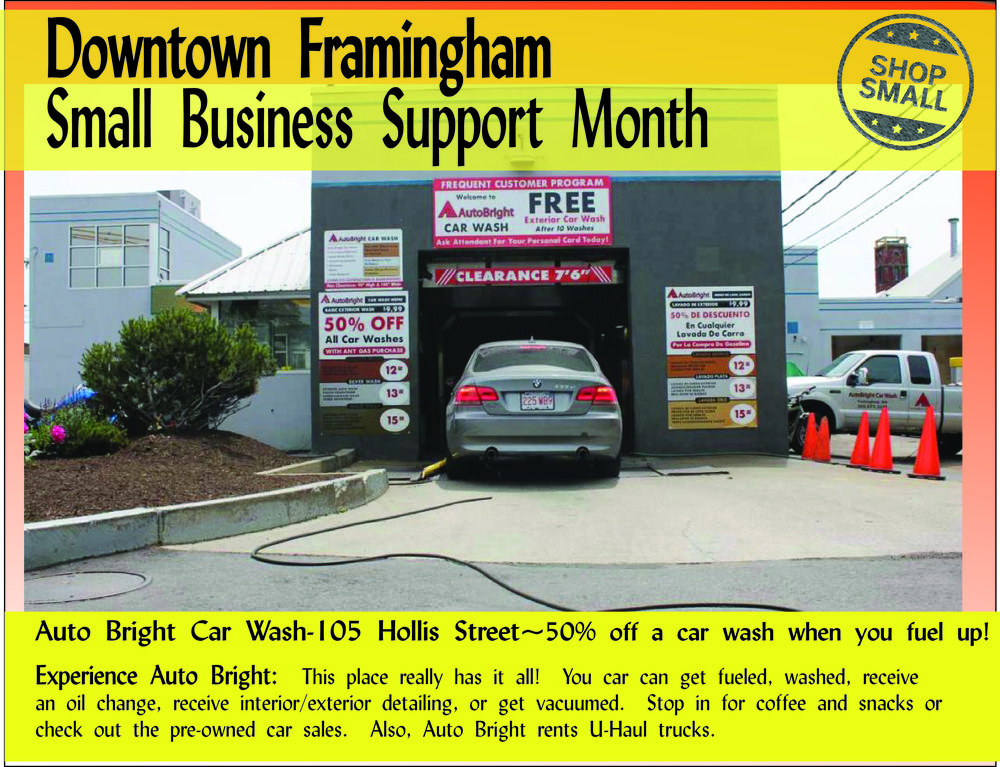 "It's Day 17 of Small Business Support Month!  Reason #17:   ""STRENGTHEN YOUR LOCAL ECONOMY! Each dollar you spend at independent businesses returns 3 times more money to your local economy than one spent at a chain (almost 50 times more than buying from an online mega-retailer) — a benefit we all can bank on.""  Today's promo is  Auto Bright Car Wash , a family-run business that has made downtown its home for decades!  Content Source:  https://www.amiba.net/resources/localhero/"
