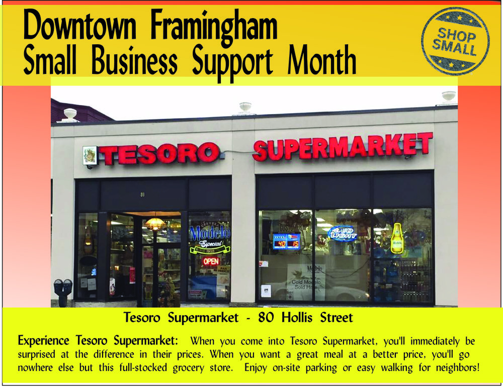 """It's Day 20 of Small Business Support Month! Reason #20:  """"Small businesses tend to buy from other small businesses. When they purchase locally-sourced ingredients or products, they also contribute to their neighbor business' success and the economic well-being of the entire community.""""  For example, Tesoro Supermarket sells local bakery produced down the block at Neca's Bakery. Check out the Tesoro Supermarket promo!"""