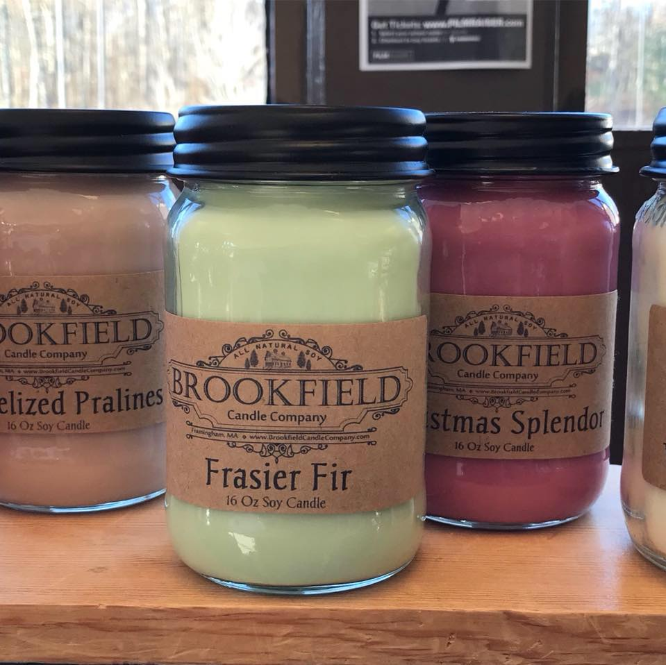 Brookfield Candle Co. - This home-based company out of Framingham creates triple-scented, handmade candles. Each candle is made to order using 100% all natural renewable soy wax. Only the finest uncut, undiluted oils are used.  Stop by and say hello to Karen!> Pair it with Poive Raz
