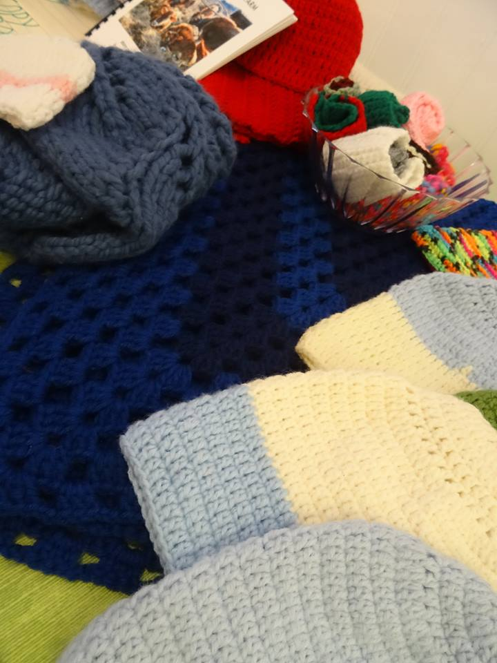Cheryl's Knits - Local Framingham knitter!Cheryl makes her keep by delivering you this wonderful, stylish gear to help you stay warm in the colder months!  Gift your family and reward Cheryl for all her hard work! > Pair it with Between the Clouds