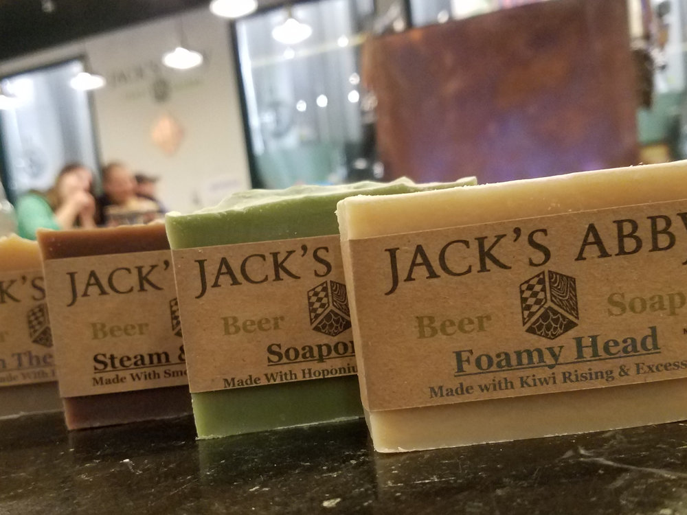 Red Castle Beer Soap - Home-court advantage goes to Red Castle Beer Soap!  This beer soap is made by hand in the traditional cold process method, and it is the perfect stocking stuffer!> Pair it with Between the Clouds