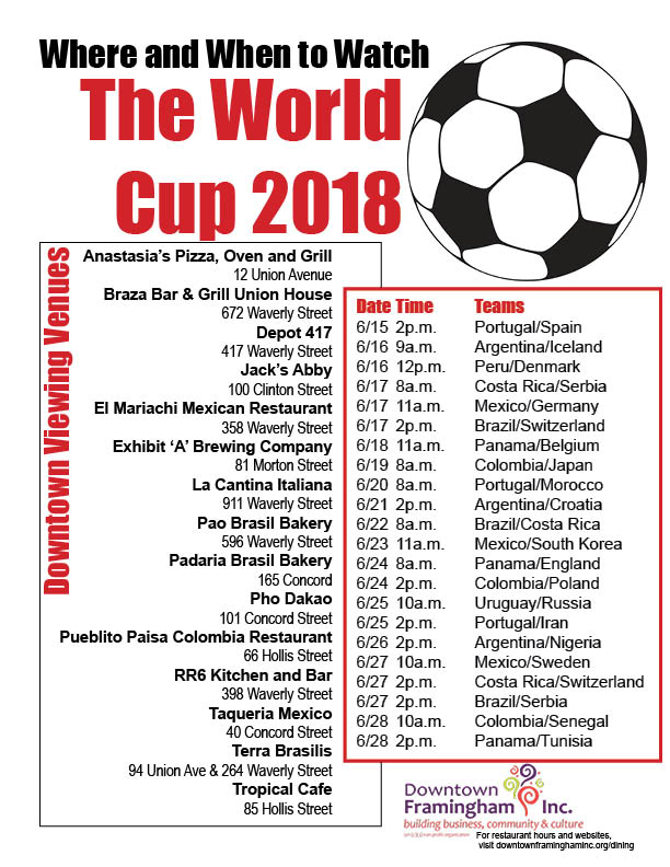 Click the image above for World Cup 2018 highlights and the venues downtown that will be showing the games.