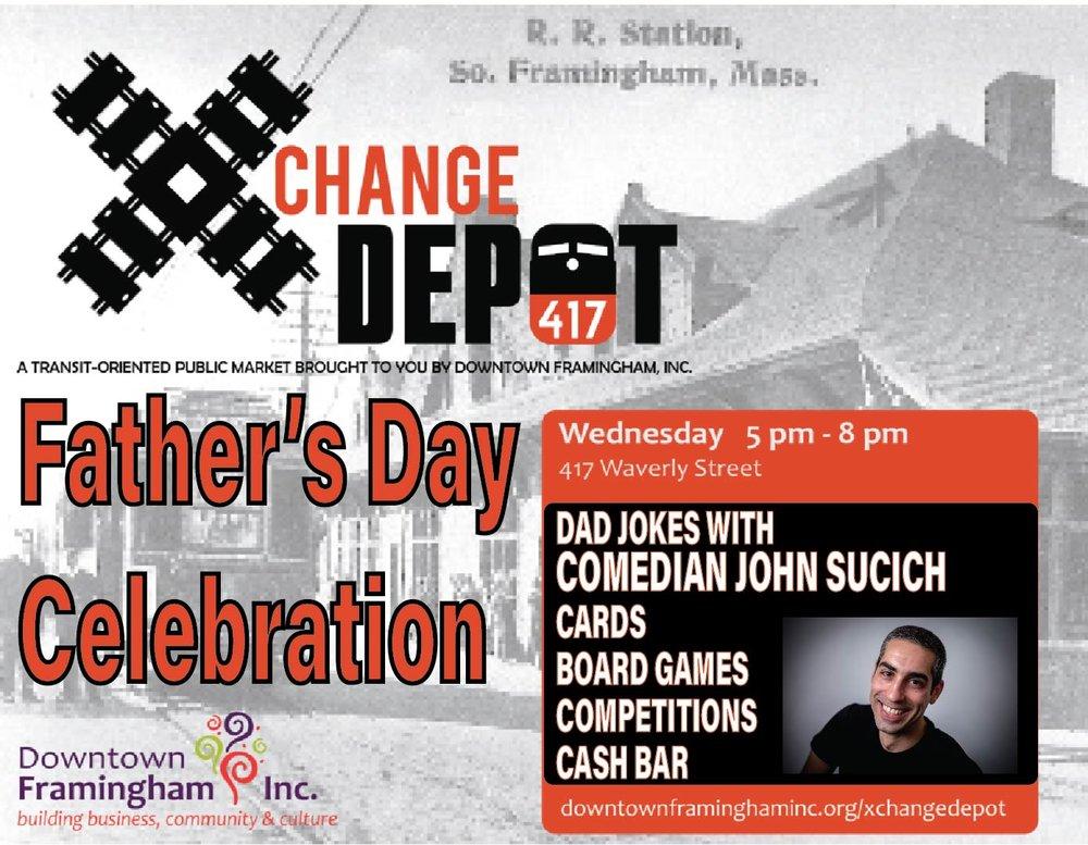 XChange Depot Father's Day Celebration! June 20 5-8 p.m.