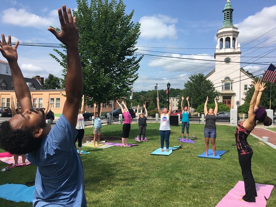 Weekly Yoga on the Downtown Common has positively activated this public space!