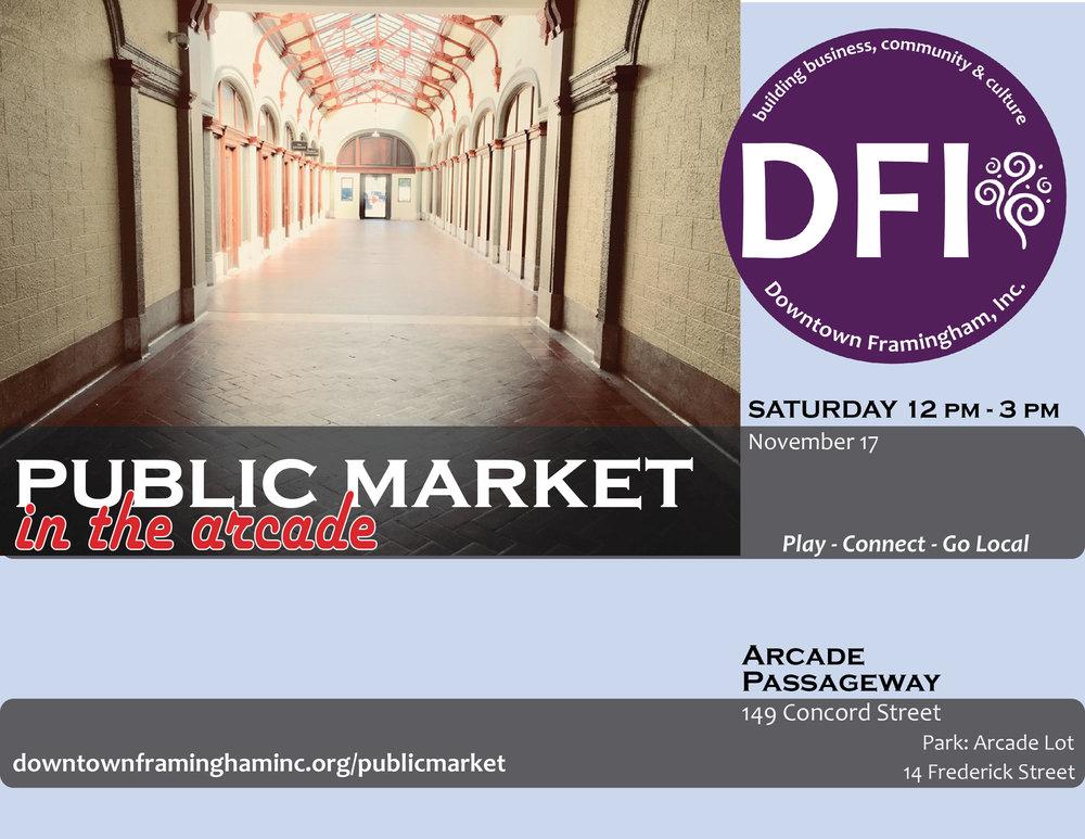 Inclement weather site:  Arcade Passageway -  149 Concord Street