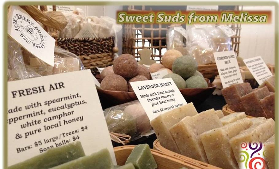 Sweet Suds - Soap from Honey - Don't miss the vast array of colorful, scented soaps in fun sizes and holiday shapes from Melissa. These sweet stocking stuffers are made from real honey, too!Pairs well with: Citrus Got Real