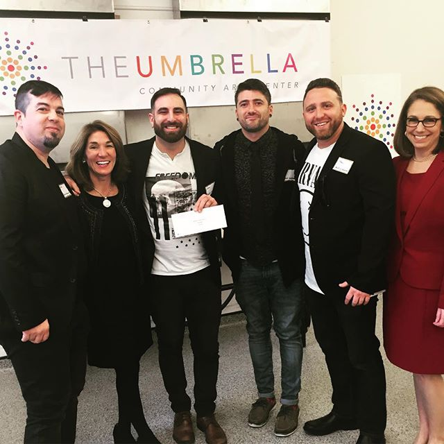 Lt. Gov. Polito presents a MassDevelopment Grant to Red 13 Creative in October 2018
