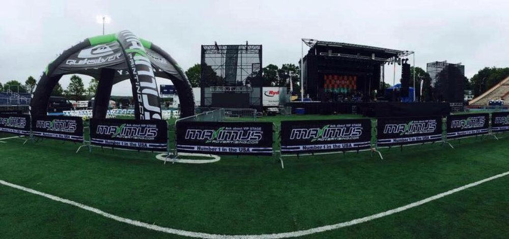 Boston Eventos provides staging, banners, barriers & more!