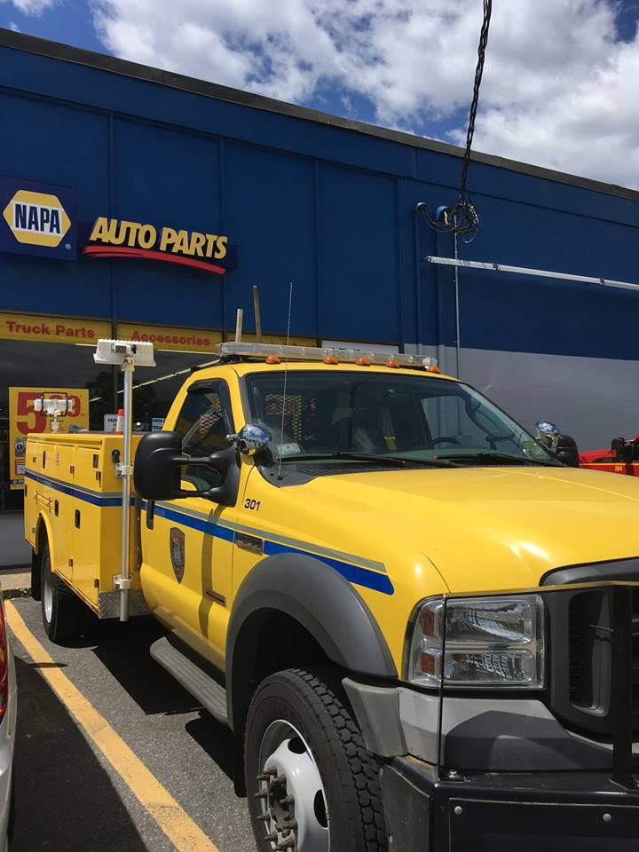 The City's DPW workers support independently-owned NAPA Auto Parts (113 Irving Street) at the June 2018 opening of NAPA Heavy Duty.