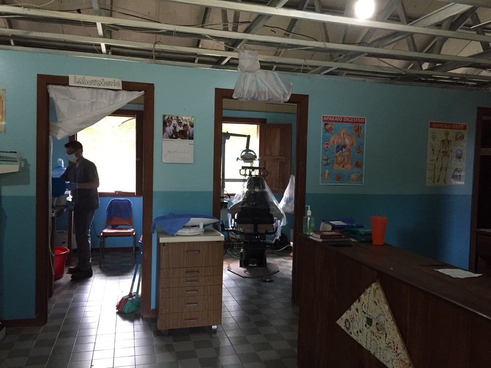 The Finca is one of the closet places to La Colonia and Mirador that has a pharmacy and actual dental chairs. Our team was able to provide medical care at The Finca for people in the villages as well as the kids in The Finca.
