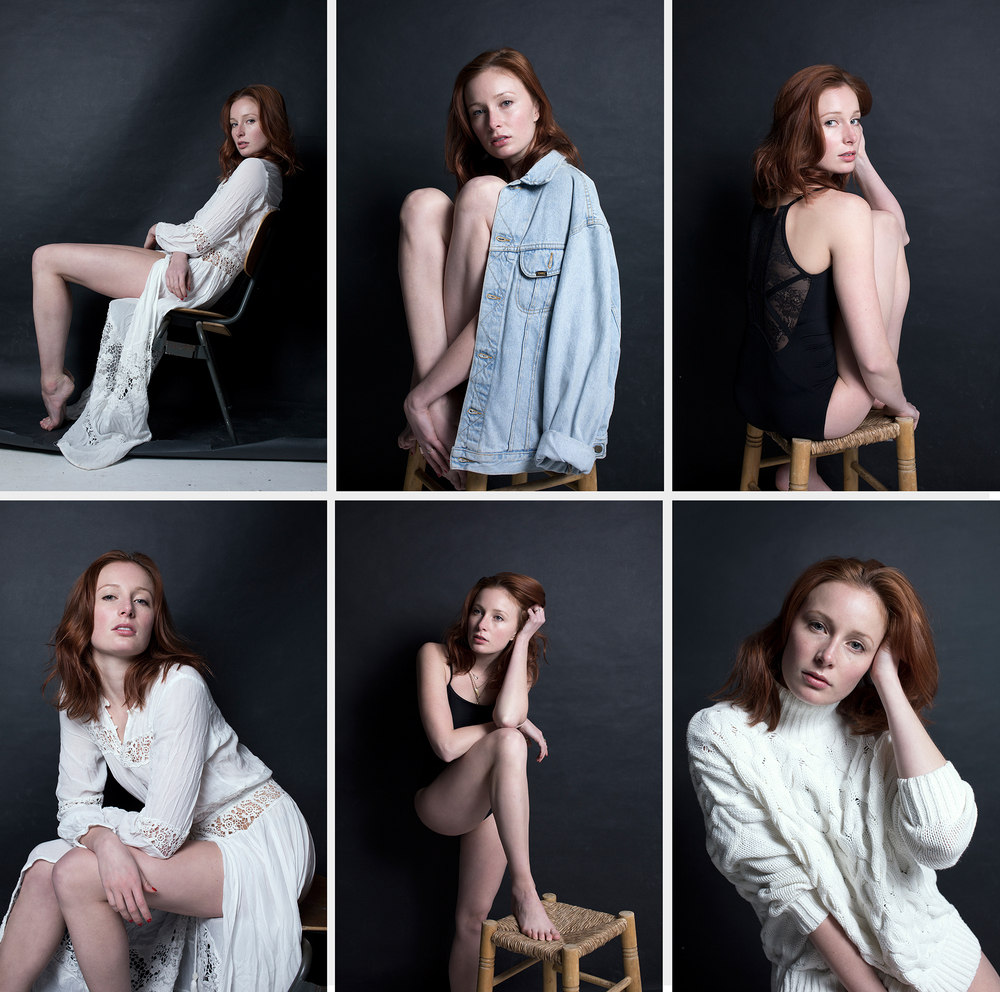 Callie Sant model portfolio