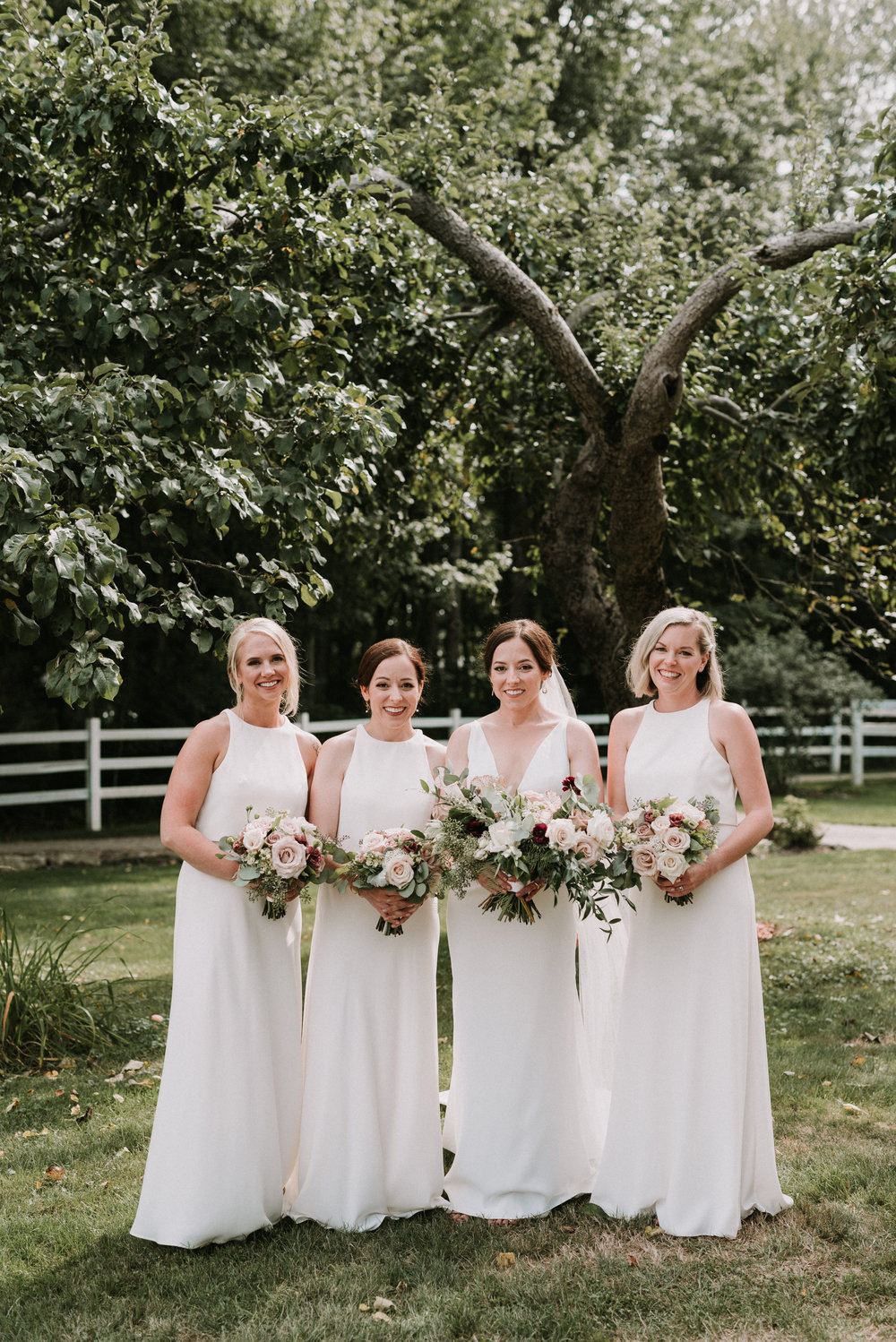 We loved that the Bridesmaids and Bride all wore shades of white.