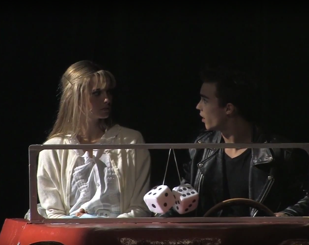NAtalie Mehl and Justin Lopez in Grease