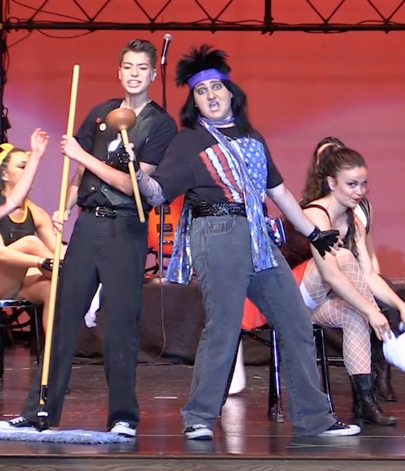 Jake Urban and Andrew Plinio in Rock of Ages
