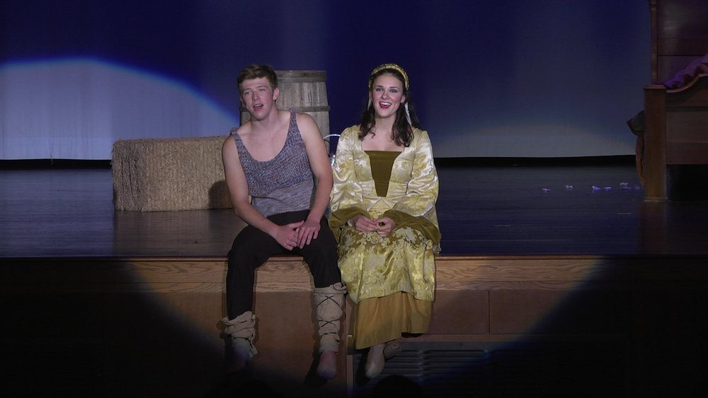 Kevin Csolak and Sarah Flaim in Pippin
