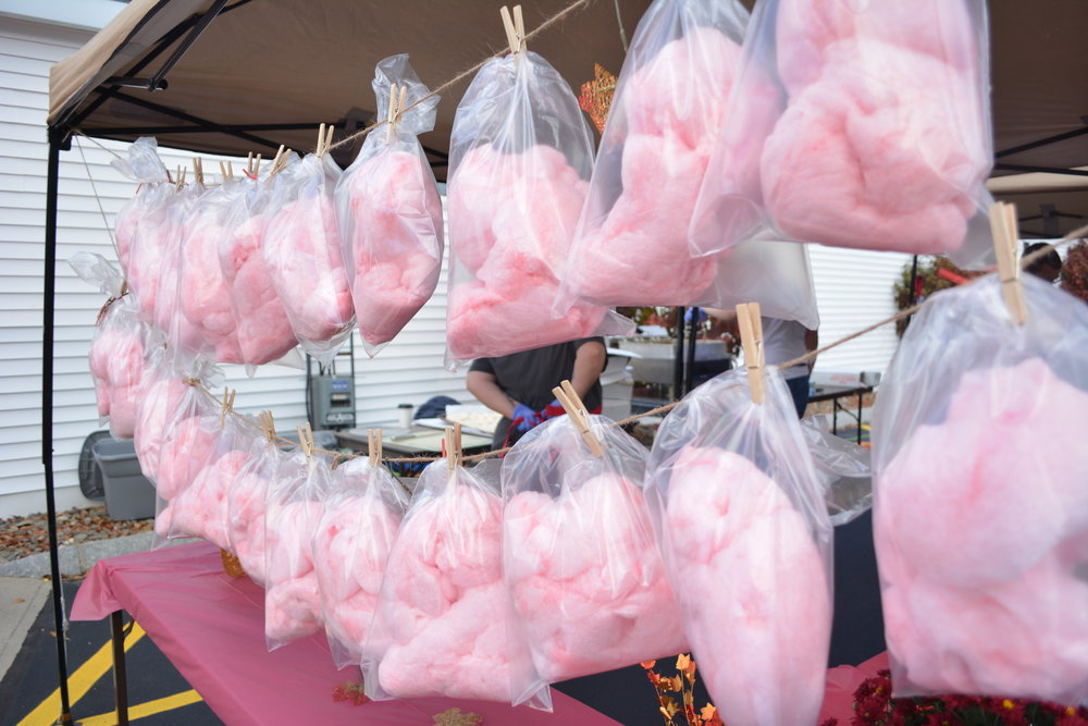 Hope you have extra hands to hold all the FREE cotton candy that we'll be giving out in the afternoon.