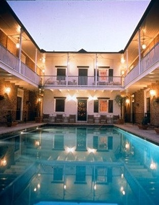A courtyard, probably haunted, at Hotel Provincial (image courtesy of Hotel Provincial).