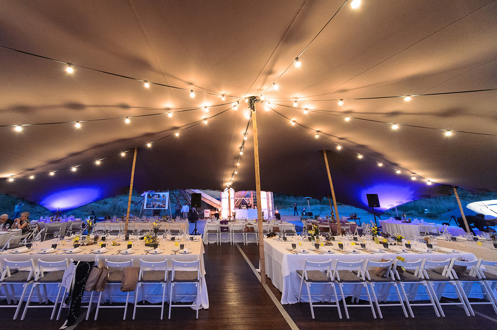 Alquiler de carpas para banquete de bodas