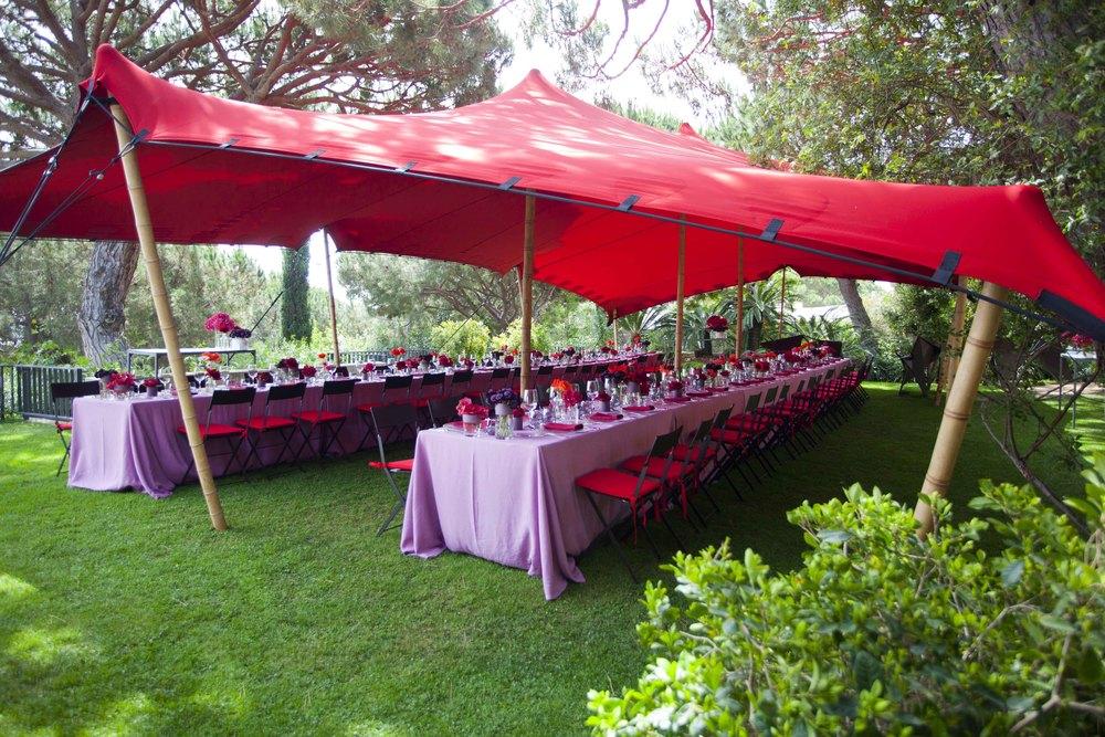 Alquiler carpa roja para bodas