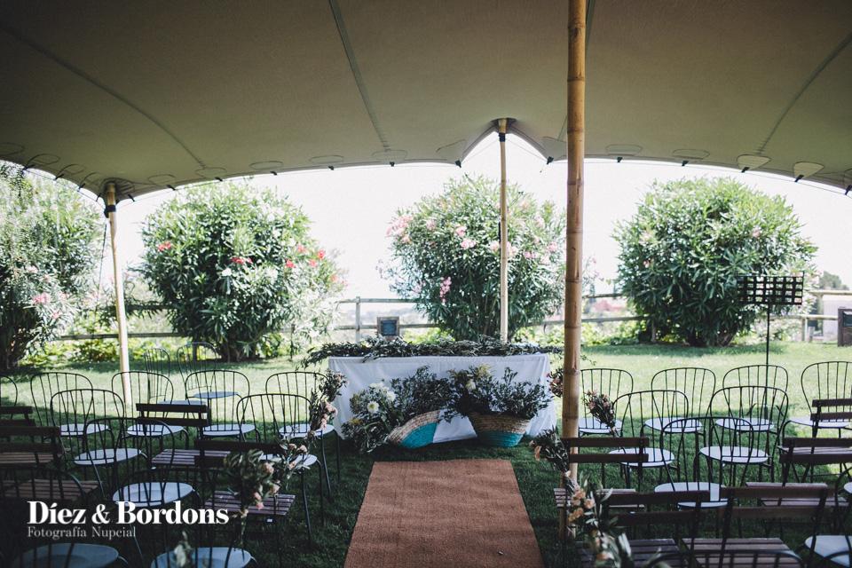 ceremonia boda carpa veleo topo