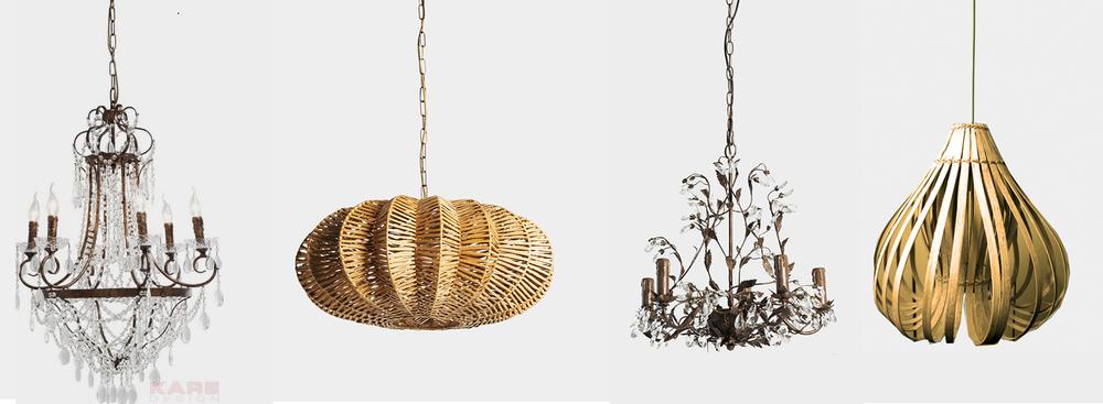 lámparas para eventos