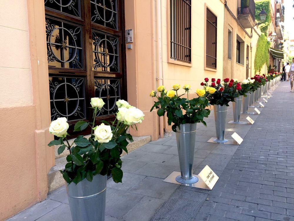 C/ L'avió PLus Ultra, Barcelona http://floramiserachs.com/sant-jordi-50-amors-50-roses/