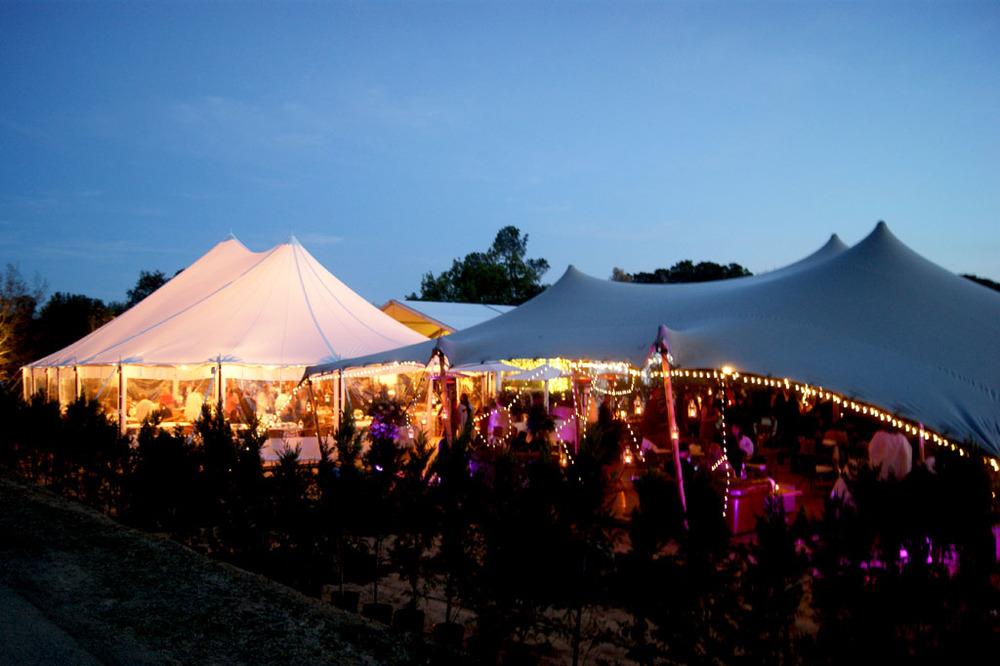 Carpas haima iluminadas para bodas