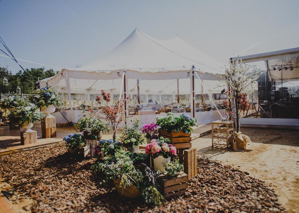 Alquiler de carpa estilo circo para bodas