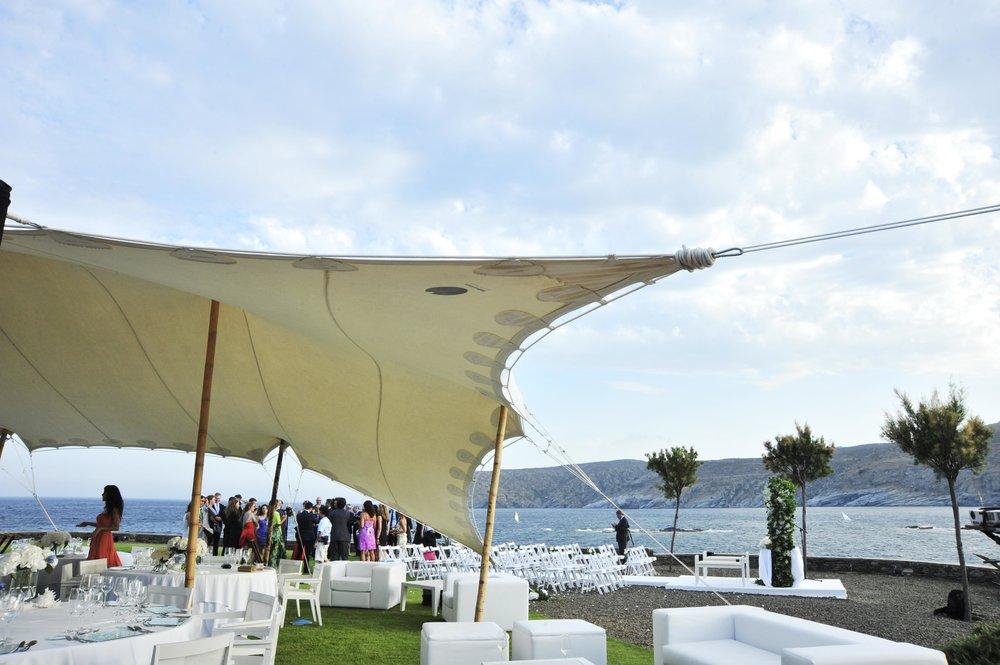 carpa blanca boda marítima