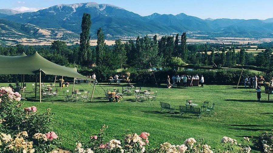 Alquiler de carpa verde para bodas