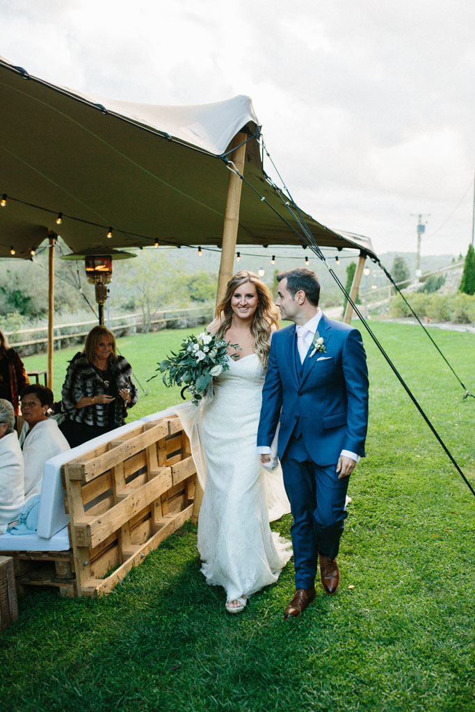 jaima en una boda rústica elegante