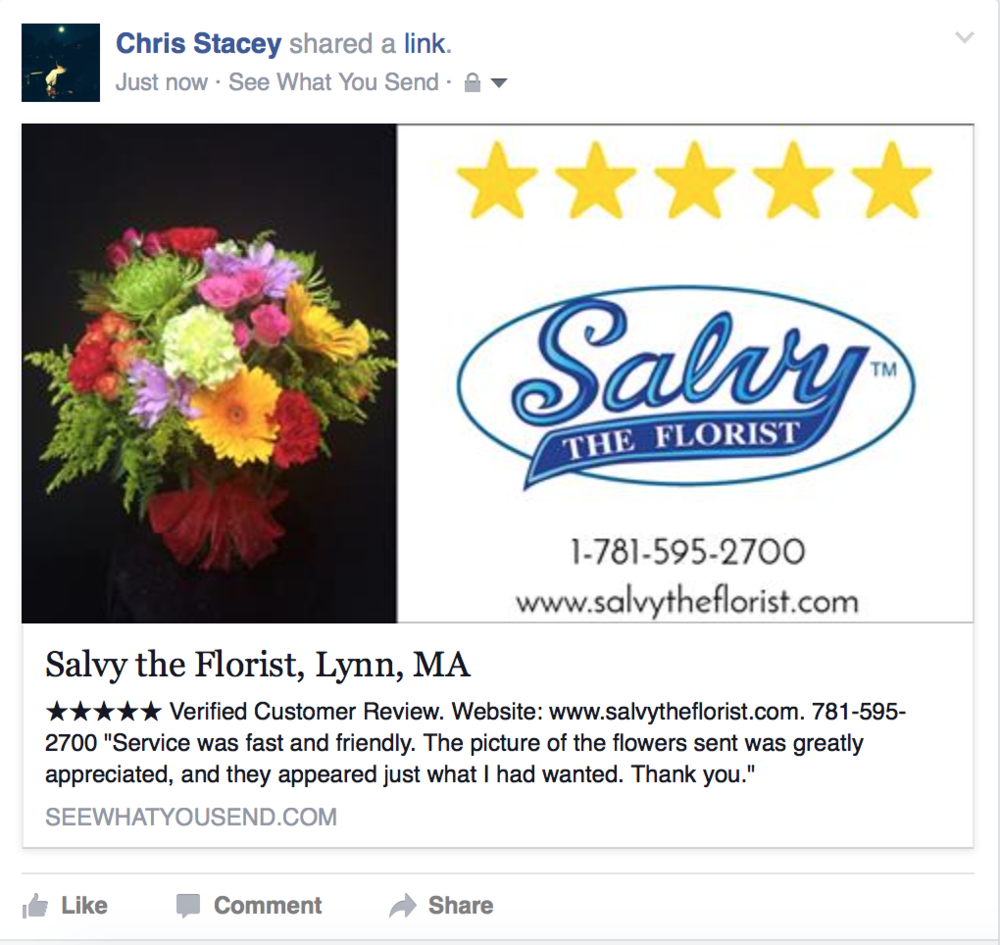 Blog see what you send shared shop review on facebook this is how a shared review looks on a facebook news feed mightylinksfo