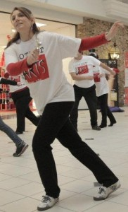Leading my Flash Mob at the Cape Cod Mall, 2011