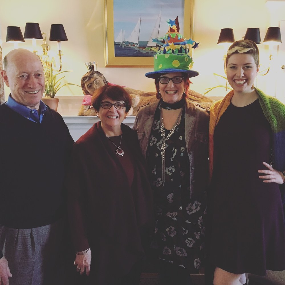 Especially grateful for these three rock stars: my daughter Celia, my mom Celine and my dad Jim. They keep me going and have my back like nobody else. Thanks guys! I love you so much!