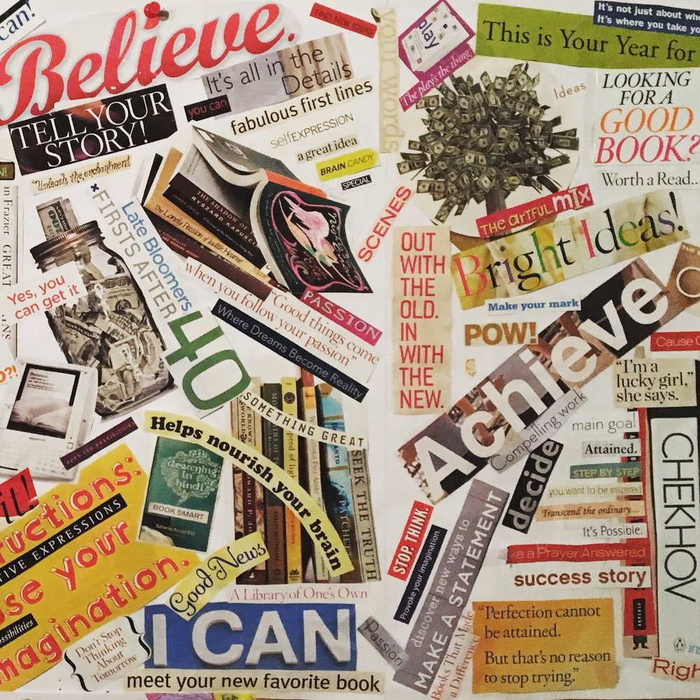 One of my most recent vision board creations