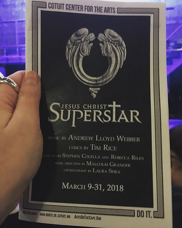 Superstar! Sold out! So exciting!! #theatre #artsonthecape #andrewlloydwebber #jesuschristsuperstar #cotuitcenterforthearts