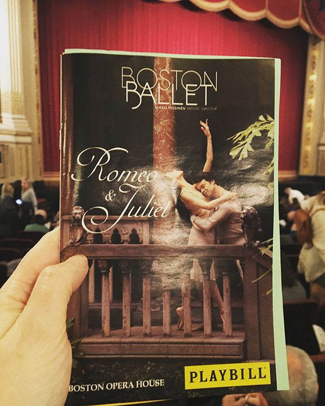 Romeo and Juliet at the Boston Ballet with HDC today!! Beautigorgeous fabulosity!! #hdcfamily #bostonballet #romeoandjuliet #thosefeetthough