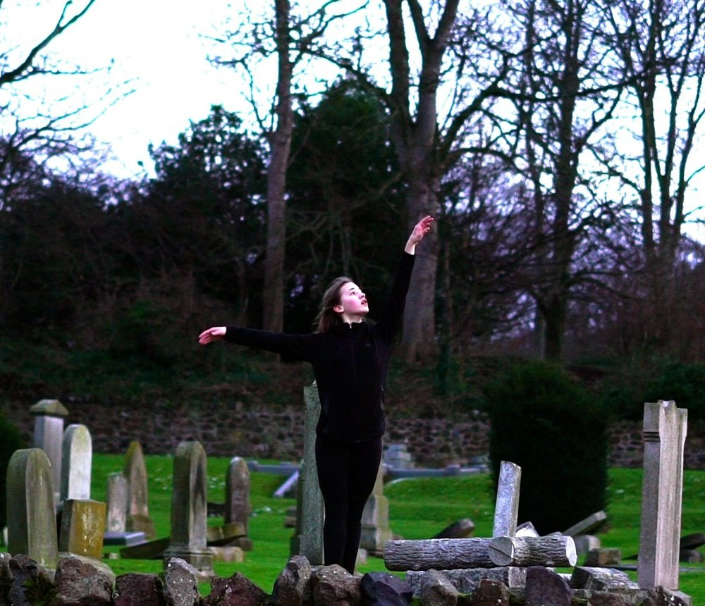 Still image from Roxana Vilk's new Art/Films to be screened at CoastWord - featuring dancer Dido Knoben.  Image copyright Roxana Vilk